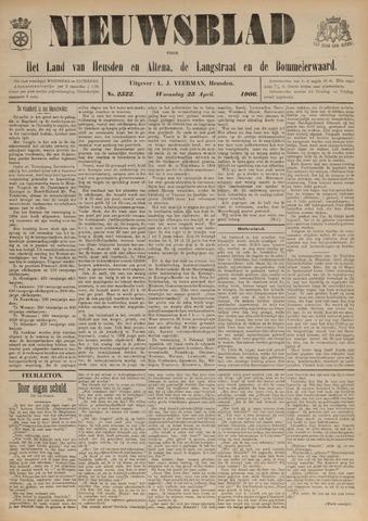 Nieuwsblad het land van Heusden en Altena de Langstraat en de Bommelerwaard 1906-04-25