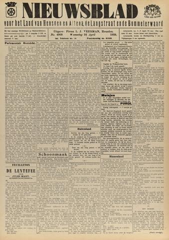 Nieuwsblad het land van Heusden en Altena de Langstraat en de Bommelerwaard 1929-04-24