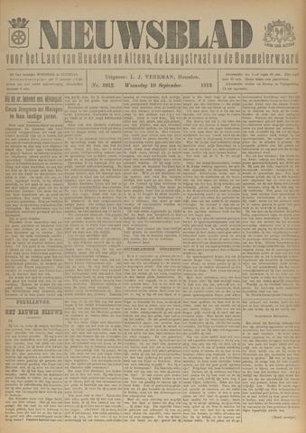 Nieuwsblad het land van Heusden en Altena de Langstraat en de Bommelerwaard 1919-09-10