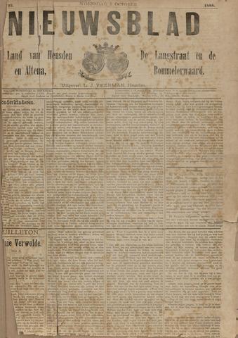 Nieuwsblad het land van Heusden en Altena de Langstraat en de Bommelerwaard 1888-10-03