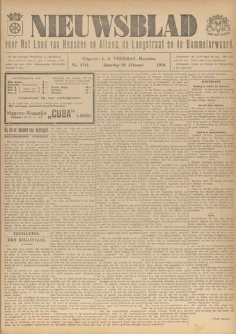 Nieuwsblad het land van Heusden en Altena de Langstraat en de Bommelerwaard 1918-02-23