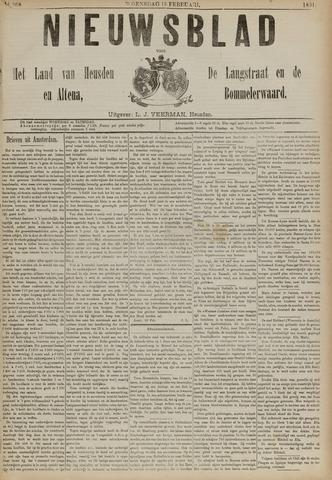 Nieuwsblad het land van Heusden en Altena de Langstraat en de Bommelerwaard 1891-02-18
