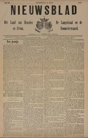 Nieuwsblad het land van Heusden en Altena de Langstraat en de Bommelerwaard 1888-07-11