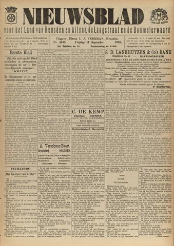 Nieuwsblad het land van Heusden en Altena de Langstraat en de Bommelerwaard 1925-09-11