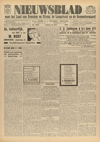 Nieuwsblad het land van Heusden en Altena de Langstraat en de Bommelerwaard 1934-05-25
