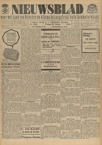 Nieuwsblad het land van Heusden en Altena de Langstraat en de Bommelerwaard 1922-10-27
