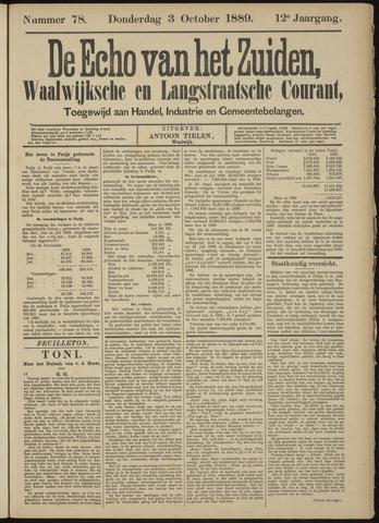 Echo van het Zuiden 1889-10-03