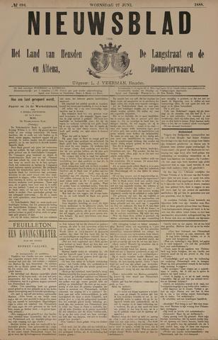 Nieuwsblad het land van Heusden en Altena de Langstraat en de Bommelerwaard 1888-06-27