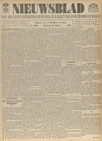 Nieuwsblad het land van Heusden en Altena de Langstraat en de Bommelerwaard 1920-03-10