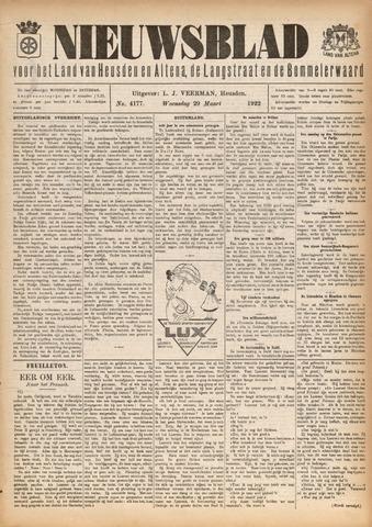 Nieuwsblad het land van Heusden en Altena de Langstraat en de Bommelerwaard 1922-03-29