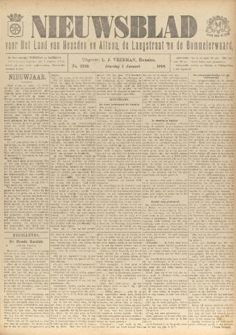 Nieuwsblad het land van Heusden en Altena de Langstraat en de Bommelerwaard 1918-01-01