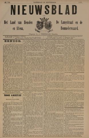 Nieuwsblad het land van Heusden en Altena de Langstraat en de Bommelerwaard 1888-09-22