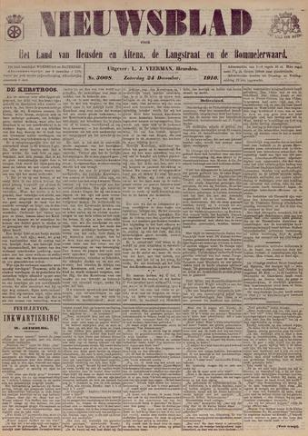 Nieuwsblad het land van Heusden en Altena de Langstraat en de Bommelerwaard 1910-12-24