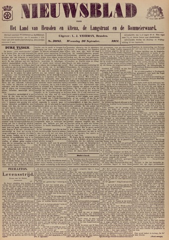 Nieuwsblad het land van Heusden en Altena de Langstraat en de Bommelerwaard 1911-09-20