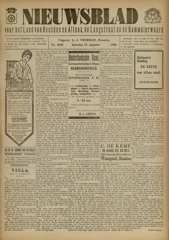 Nieuwsblad het land van Heusden en Altena de Langstraat en de Bommelerwaard 1922-08-12