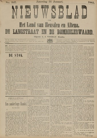 Nieuwsblad het land van Heusden en Altena de Langstraat en de Bommelerwaard 1885-01-31
