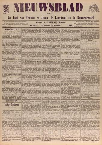 Nieuwsblad het land van Heusden en Altena de Langstraat en de Bommelerwaard 1906-12-12