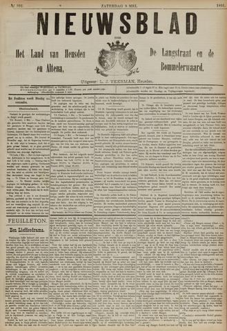 Nieuwsblad het land van Heusden en Altena de Langstraat en de Bommelerwaard 1891-05-09