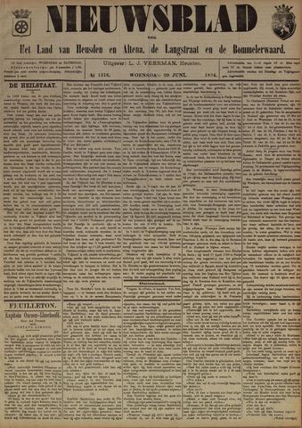 Nieuwsblad het land van Heusden en Altena de Langstraat en de Bommelerwaard 1894-06-20
