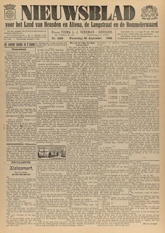 Nieuwsblad het land van Heusden en Altena de Langstraat en de Bommelerwaard 1932-09-28