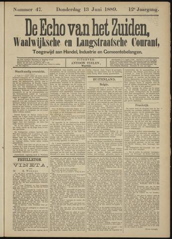 Echo van het Zuiden 1889-06-13