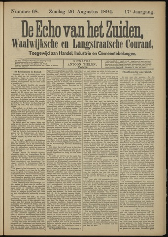 Echo van het Zuiden 1894-08-26
