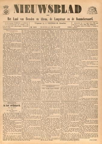 Nieuwsblad het land van Heusden en Altena de Langstraat en de Bommelerwaard 1905-03-22