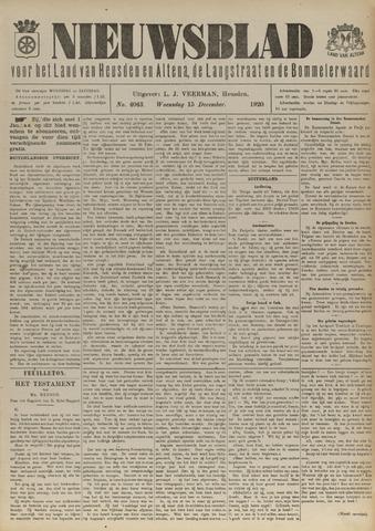 Nieuwsblad het land van Heusden en Altena de Langstraat en de Bommelerwaard 1920-12-15