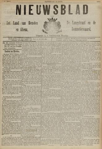 Nieuwsblad het land van Heusden en Altena de Langstraat en de Bommelerwaard 1891-06-13