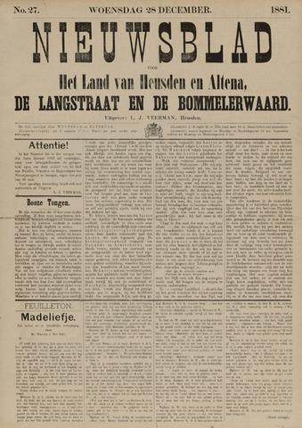 Nieuwsblad het land van Heusden en Altena de Langstraat en de Bommelerwaard 1881-12-28