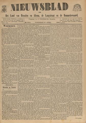 Nieuwsblad het land van Heusden en Altena de Langstraat en de Bommelerwaard 1904-04-27