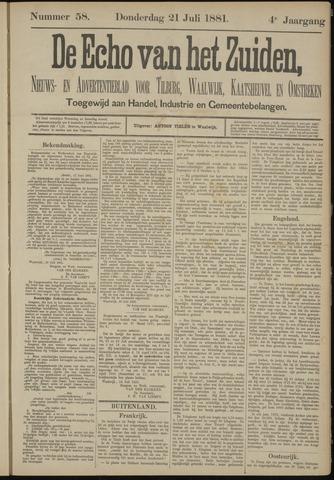 Echo van het Zuiden 1881-07-21