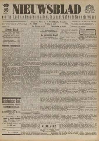 Nieuwsblad het land van Heusden en Altena de Langstraat en de Bommelerwaard 1924-07-04