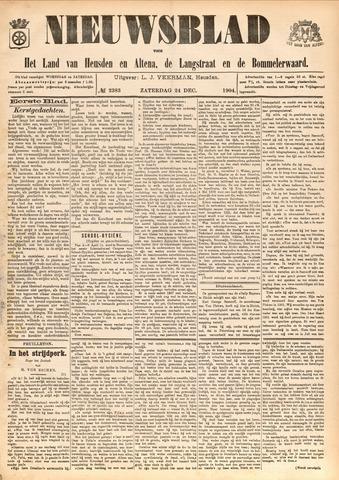 Nieuwsblad het land van Heusden en Altena de Langstraat en de Bommelerwaard 1904-12-24