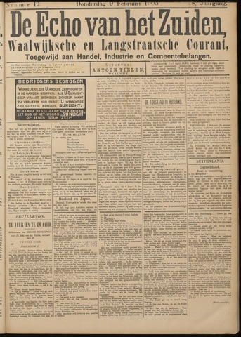 Echo van het Zuiden 1905-02-09