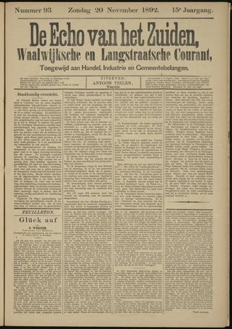 Echo van het Zuiden 1892-11-20