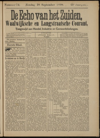 Echo van het Zuiden 1898-09-18