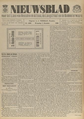 Nieuwsblad het land van Heusden en Altena de Langstraat en de Bommelerwaard 1920-12-01