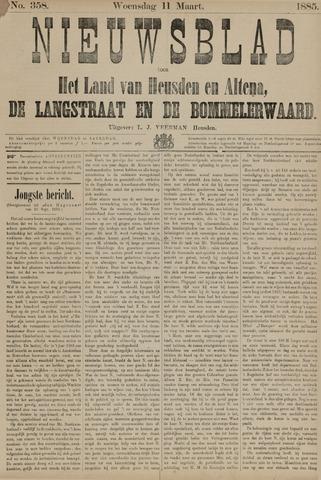 Nieuwsblad het land van Heusden en Altena de Langstraat en de Bommelerwaard 1885-03-11