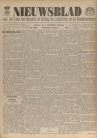 Nieuwsblad het land van Heusden en Altena de Langstraat en de Bommelerwaard 1919-01-08