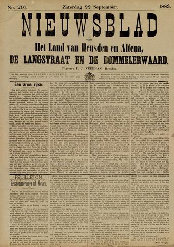 Nieuwsblad het land van Heusden en Altena de Langstraat en de Bommelerwaard 1883-09-22