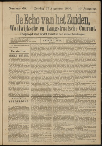 Echo van het Zuiden 1899-08-27