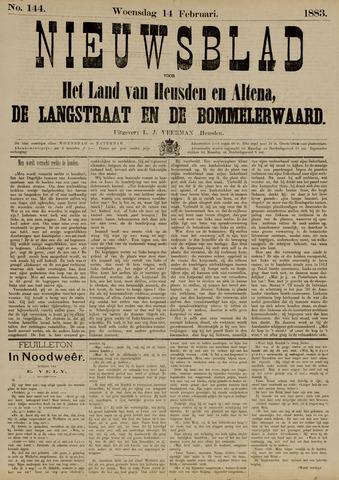 Nieuwsblad het land van Heusden en Altena de Langstraat en de Bommelerwaard 1883-02-14