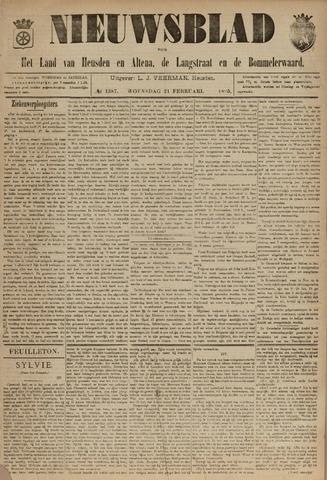Nieuwsblad het land van Heusden en Altena de Langstraat en de Bommelerwaard 1895-02-21