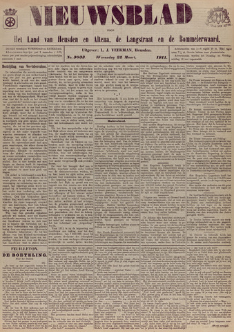 Nieuwsblad het land van Heusden en Altena de Langstraat en de Bommelerwaard 1911-03-22
