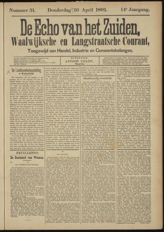 Echo van het Zuiden 1891-04-16