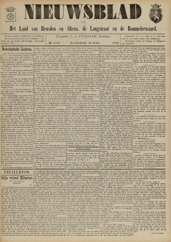 Nieuwsblad het land van Heusden en Altena de Langstraat en de Bommelerwaard 1892-07-16