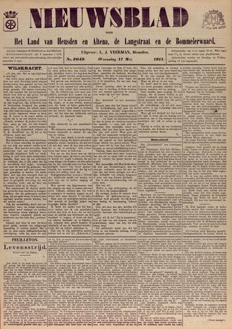 Nieuwsblad het land van Heusden en Altena de Langstraat en de Bommelerwaard 1911-05-17