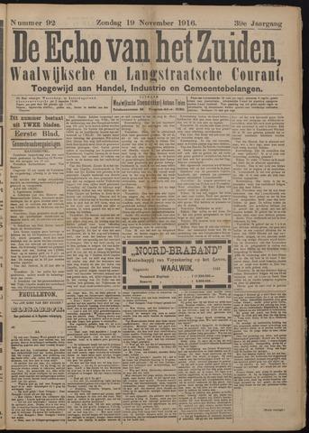 Echo van het Zuiden 1916-11-19