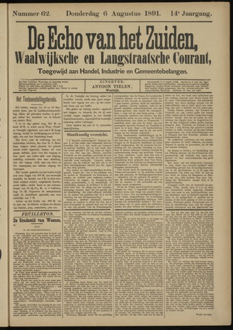 Echo van het Zuiden 1891-08-06